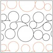 INVENTORY REDUCTION...More Bubbles Border quilting pantograph pattern by Dave Hudson