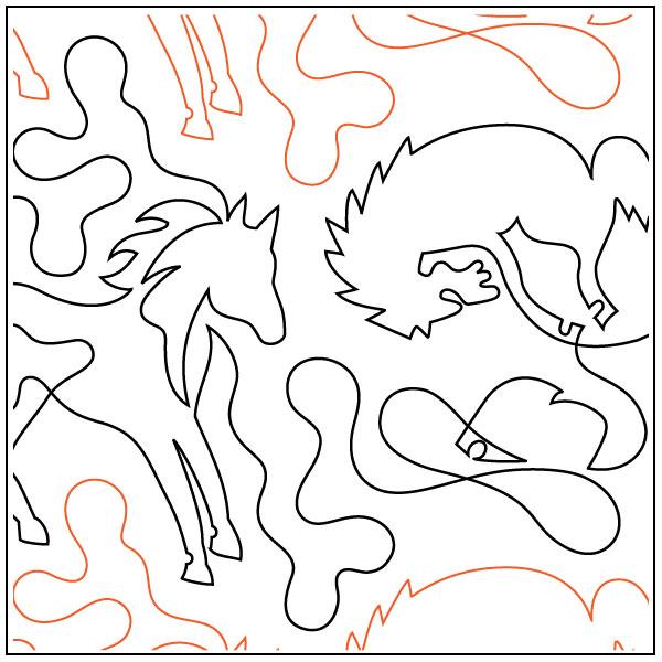 Cowboy-Roundup-quilting-pantograph-pattern-dave-hudson-1