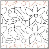 Holly-and-Poinsettia-quilting-pantograph-pattern-dave-hudson