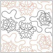 White Out quilting pantograph sewing pattern by Dave Hudson 2