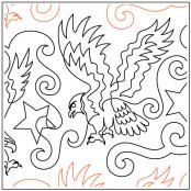 Eagles On High quilting pantograph pattern by Dave Hudson