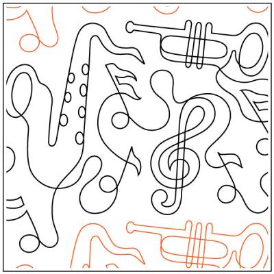 INVENTORY REDUCTION...Dave's All That Jazz quilting pantograph sewing pattern by Dave Hudson