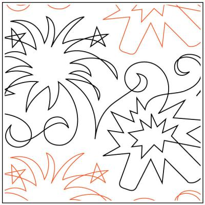INVENTORY REDUCTION..Fourth Of July quilting pantograph sewing pattern by Dave Hudson