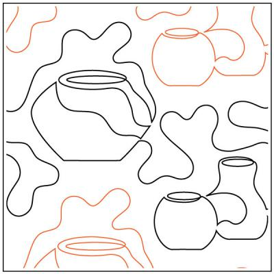 INVENTORY REDUCTION...Pottery quilting pantograph sewing pattern by Dave Hudson