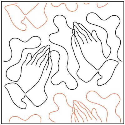 Praying Hands quilting pantograph sewing pattern by Dave Hudson