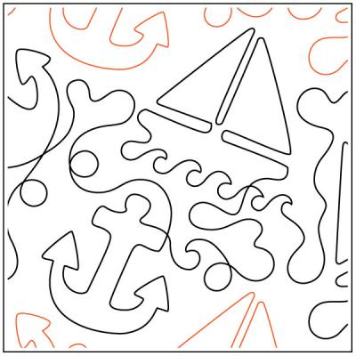 INVENTORY REDUCTION...Sea Worthy quilting pantograph sewing pattern by Dave Hudson