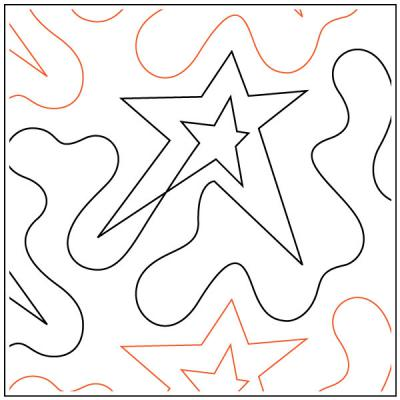 INVENTORY REDUCTION...Star In Star quilting pantograph sewing pattern by Dave Hudson