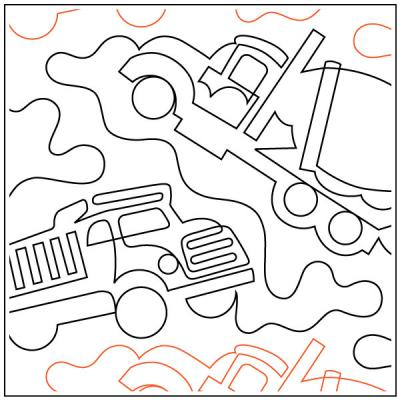 INVENTORY REDUCTION...Trucks quilting pantograph sewing pattern by Dave Hudson