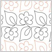 Daisy Duo quilting pantograph sewing pattern by Dave Hudson