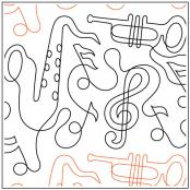 Dave's All That Jazz quilting pantograph sewing pattern by Dave Hudson