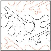 Keys quilting pantograph sewing pattern by Dave Hudson