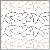 Linna's Charm Border quilting pantograph pattern by Dave Hudson