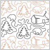 Log Cabin quilting pantograph sewing pattern by Dave Hudson 2