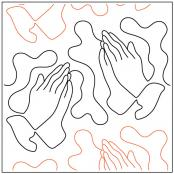 INVENTORY REDUCTION...Praying Hands quilting pantograph sewing pattern by Dave Hudson