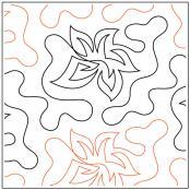 Rose Pinwheel quilting pantograph sewing pattern by Dave Hudson