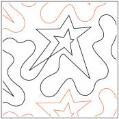 Star In Star quilting pantograph sewing pattern by Dave Hudson