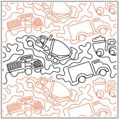 INVENTORY REDUCTION...Trucks quilting pantograph sewing pattern by Dave Hudson 2
