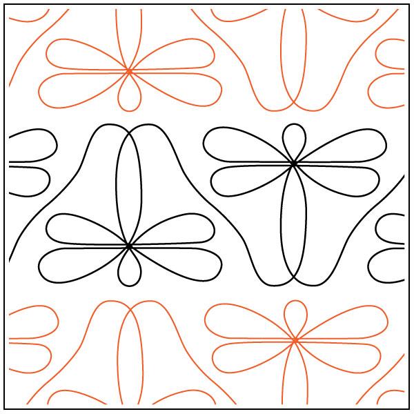 Daves-Dragonfly-Border-quilting-pantograph-pattern-dave-hudson