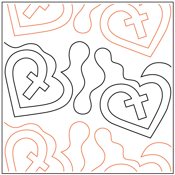 Heart-of-Love-quilting-pantograph-pattern-dave-hudson