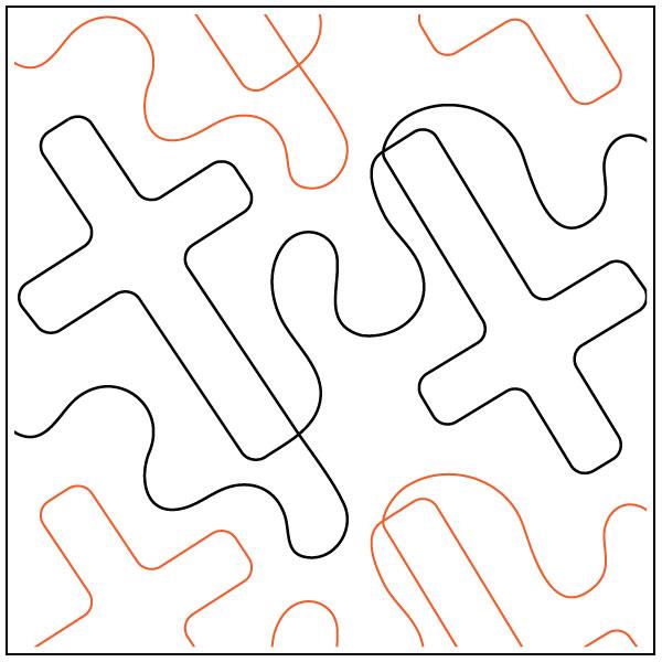 Tumbing-Crosses-quilting-pantograph-pattern-dave-hudson