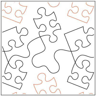 Dave's Jigsaw quilting pantograph pattern by Dave Hudson