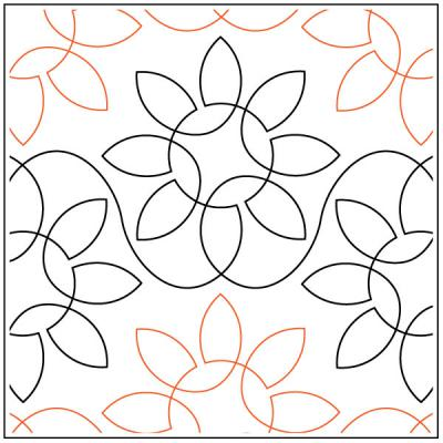 Dave's Sunflowers quilting pantograph pattern by Dave Hudson