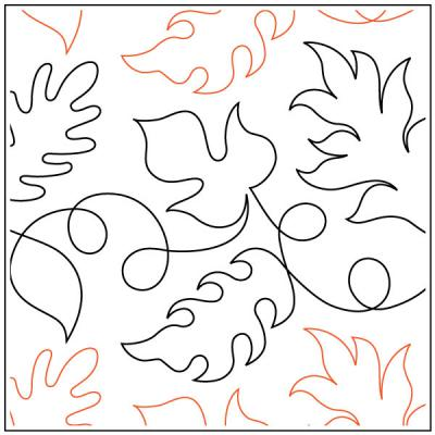 Dave's Falling Leaves quilting pantograph pattern by Dave Hudson