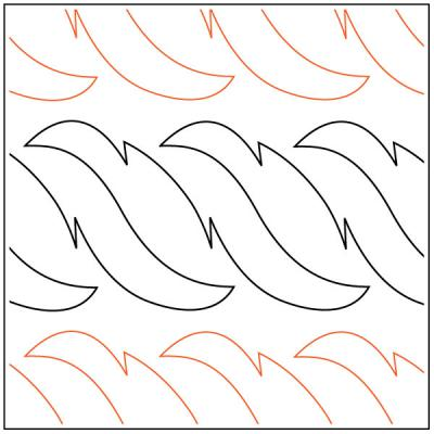 INVENTORY REDUCTION -- Feather quilting pantograph pattern by Dave Hudson