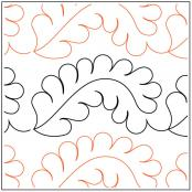 INVENTORY REDUCTION...Dave's Feathered Border quilting pantograph pattern by Dave Hudson