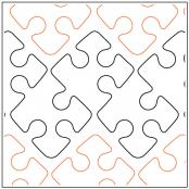 INVENTORY REDUCTION...Dave's Jigsaw Border quilting pantograph pattern by Dave Hudson