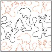 Deer In The Woods quilting pantograph pattern by Dave Hudson