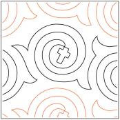 Faith Wrapped in Love quilting pantograph pattern by Dave Hudson