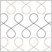 INVENTORY REDUCTION...Figure Eight quilting pantograph pattern by Dave Hudson