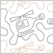 Helicopter #2 quilting pantograph sewing pattern by Dave Hudson
