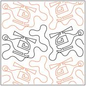 INVENTORY REDUCTION...Helicopter #2 quilting pantograph sewing pattern by Dave Hudson 1