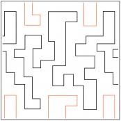 Jacobs Other Ladder quilting pantograph pattern by Dave Hudson