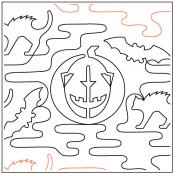 October quilting pantograph pattern by Dave Hudson