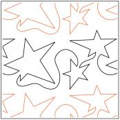 INVENTORY REDUCTION...Random Star quilting pantograph pattern by Dave Hudson