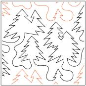 The Woods quilting pantograph pattern by Dave Hudson