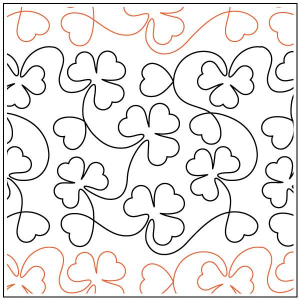 shamrocks-and-hearts-quilting-pantograph-pattern-Deb-Geissler