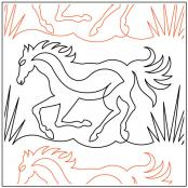 Wild-horses-quilting-pantograph-pattern-Deb-Geissler