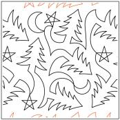 Pine Tree Meander quilting pantograph pattern by Deb Geissler