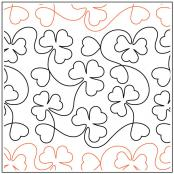 Shamrocks and Hearts quilting pantograph pattern by Deb Geissler