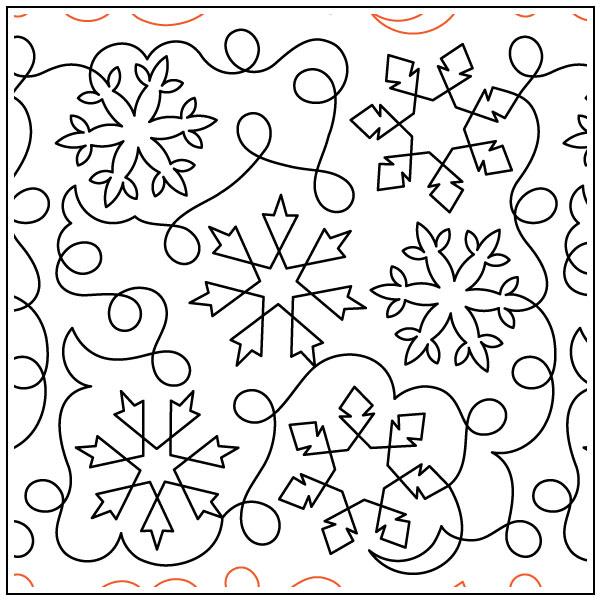 Debs-Snowflakes-Meander-quilting-pantograph-sewing-pattern-Deb-Geissler