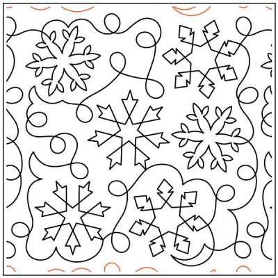 Debs Snowflakes Meander quilting pantograph sewing pattern by Deb Geissler