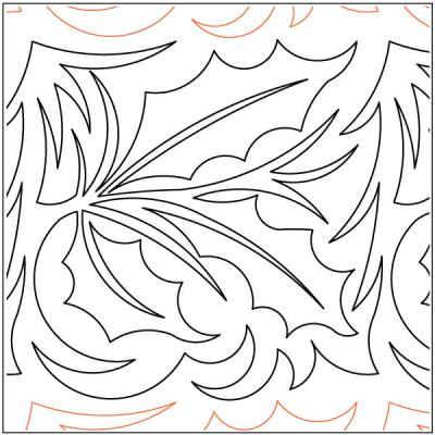 Holly-Leaves-quilting-pantograph-sewing-pattern-Deb-Geissler