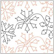Debs Snowflakes quilting pantograph sewing pattern by Deb Geissler