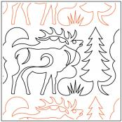 Elk-and-Pines-Border-quilting-pantograph-sewing-pattern-Deb-Geissler