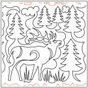 Elk-and-Pines-quilting-pantograph-sewing-pattern-Deb-Geissler