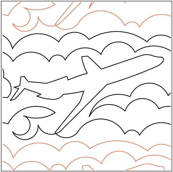 Airplanes-In-The-Clouds-quilting-pantograph-pattern-Deb-Geissler